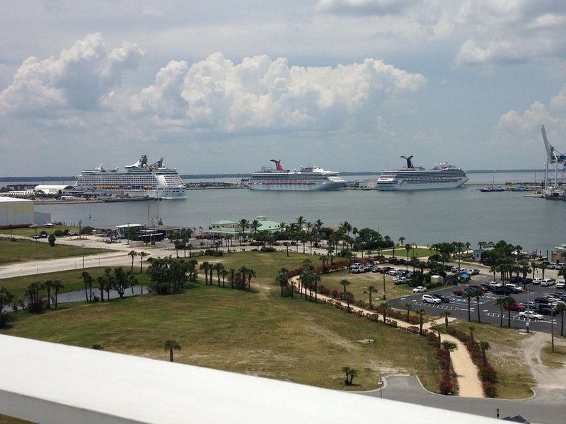 View from the Space Coast Exploration Tower at Port Canaveral