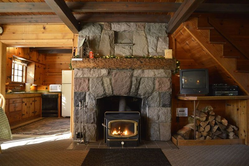 Majestic fireplace.  Constructed by same craftsmen who constructed Timberline.