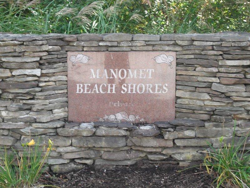 Signo de Manomet Beach 'darle la bienvenida' al vecindario!