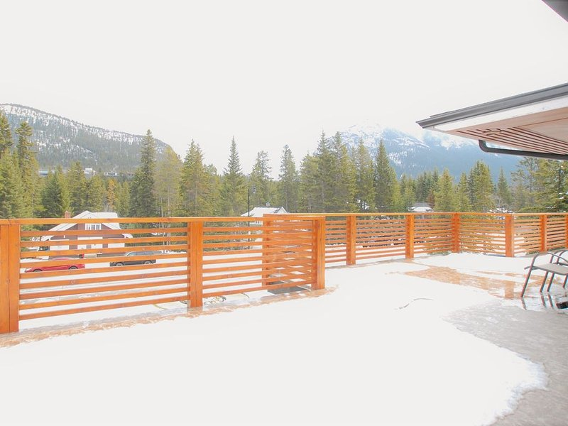Huge 1500 Sq, foot + front deck with spectacular mountain views.