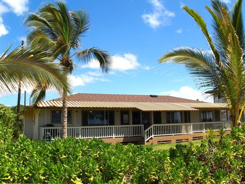 True Beach-Front House on Kauai's Westside, in Historic Waimea  -  TVNCU #1126, vacation rental in Kekaha