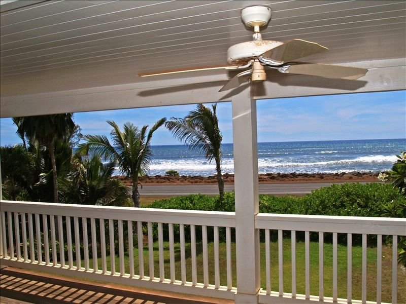 The incredible ocean view from the 2nd floor lanai and master bedrooms