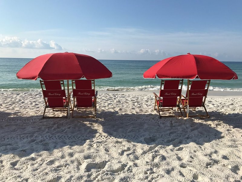 Beach Chair Service  We offer 2 chairs and 1 umbrella set up for you each day.
