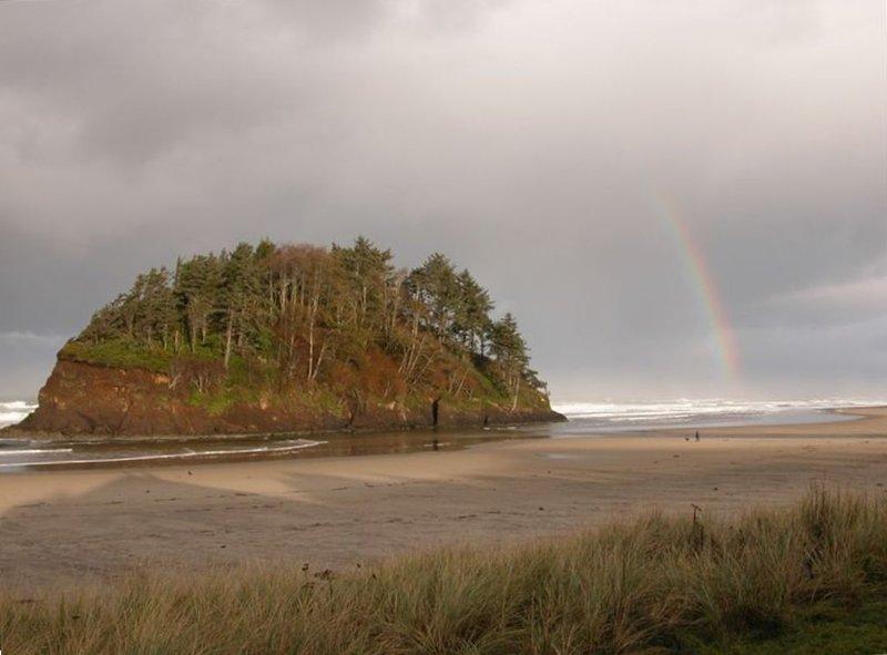 Vue de Rainbow sur Proposal Rock de cour