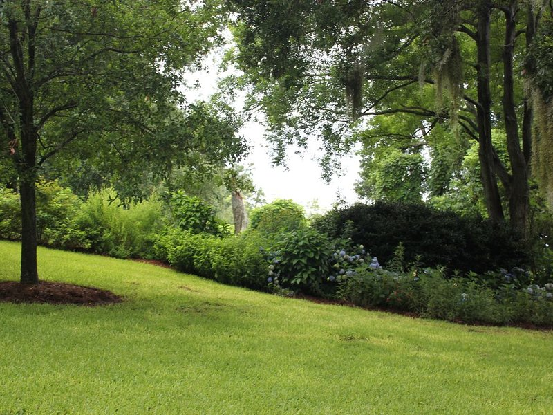 Beautiful gardens designed to attract hummingbirds and butterflies.