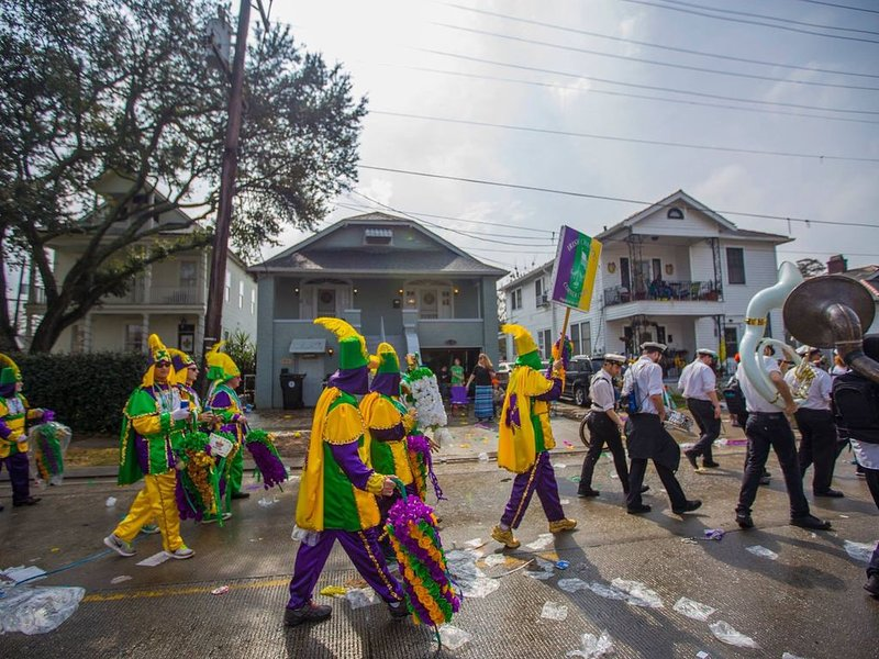 Once a year, a parade passes right in front of the house! (House is in center)