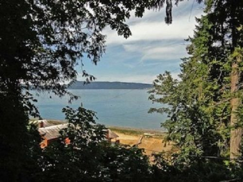 View of Hornby Island in the distance and Seacroft Beach area.