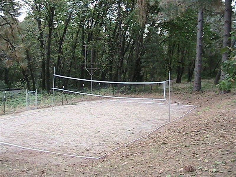 Cout de volleyball de sable de taille réglementaire