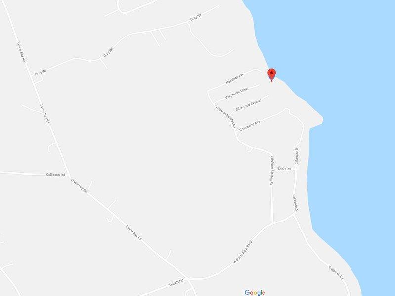 Correct location of lake house (google has it wrong)