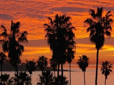 View of Sunset Over La Jolla Cove