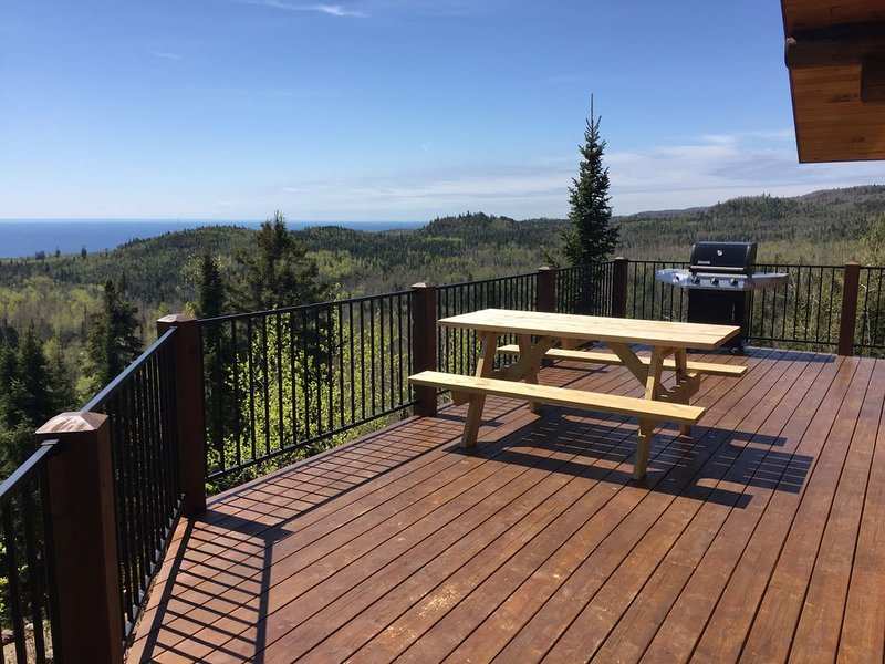 Spectacular view from the deck in all seasons! This is spring.