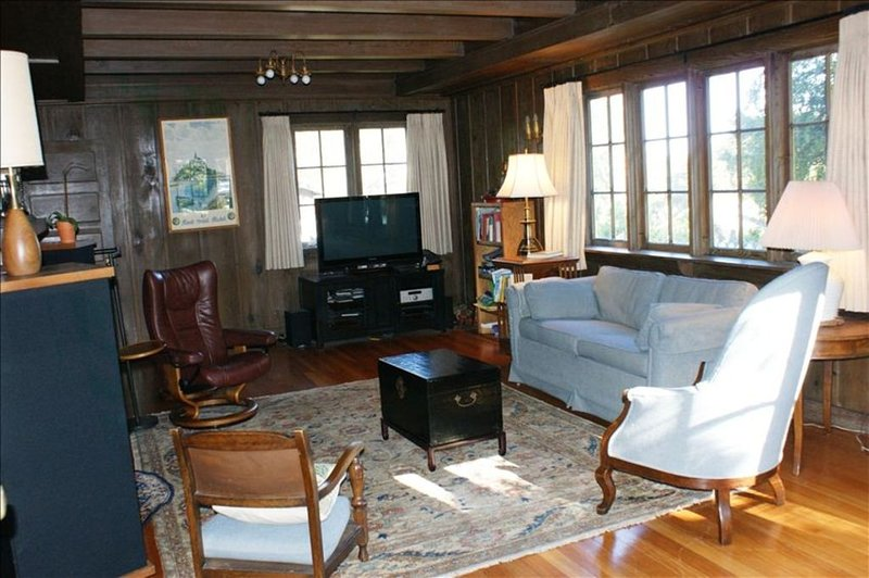 living room with fireplace rental house in pacific grove