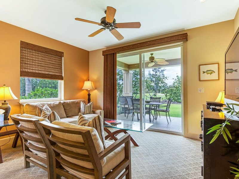 Quiet, Affordable Luxury & Golf Course View 3/2 in Hali'i Kai - Family Friendly!, vacation rental in Puako