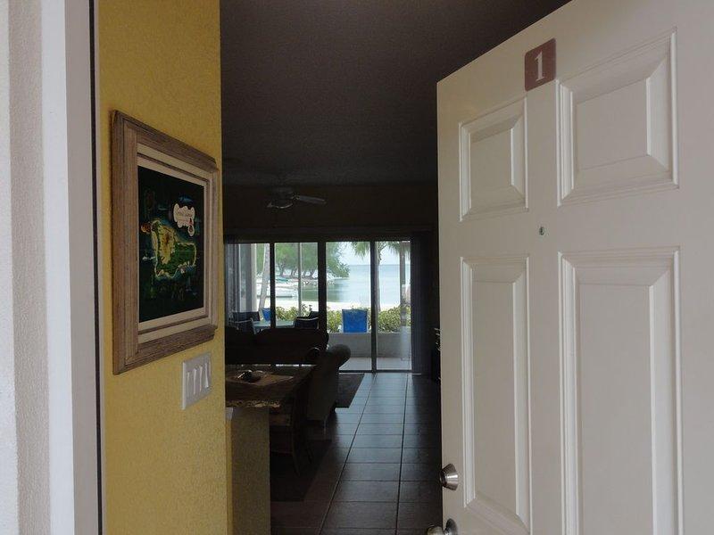 View through from front door