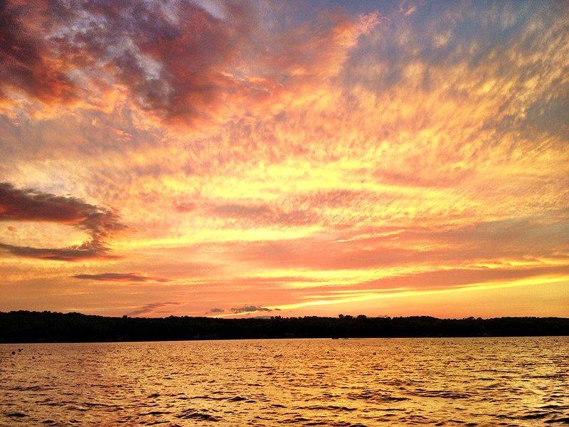 Exquisite sunset over Seneca Lake.
