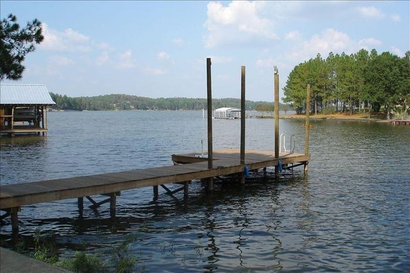 Private Pier with year around water.  Is 20 feet deep off end in Summer.