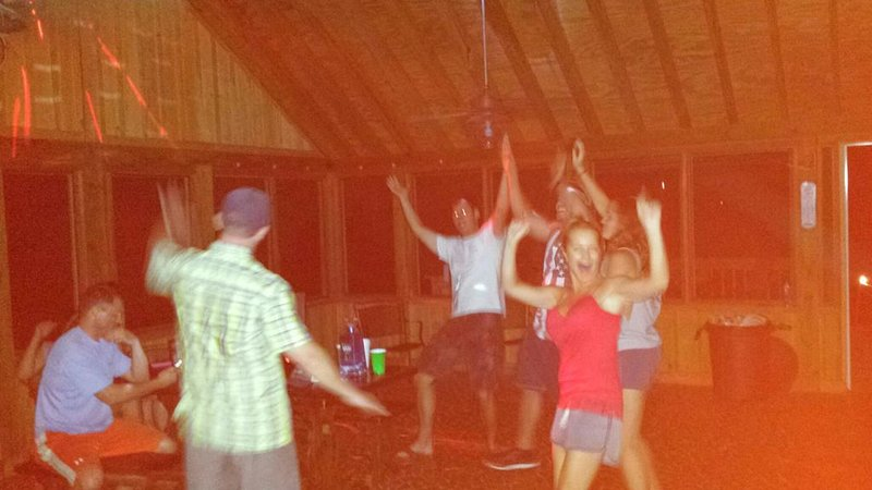 Disco Porch doing the YMCA