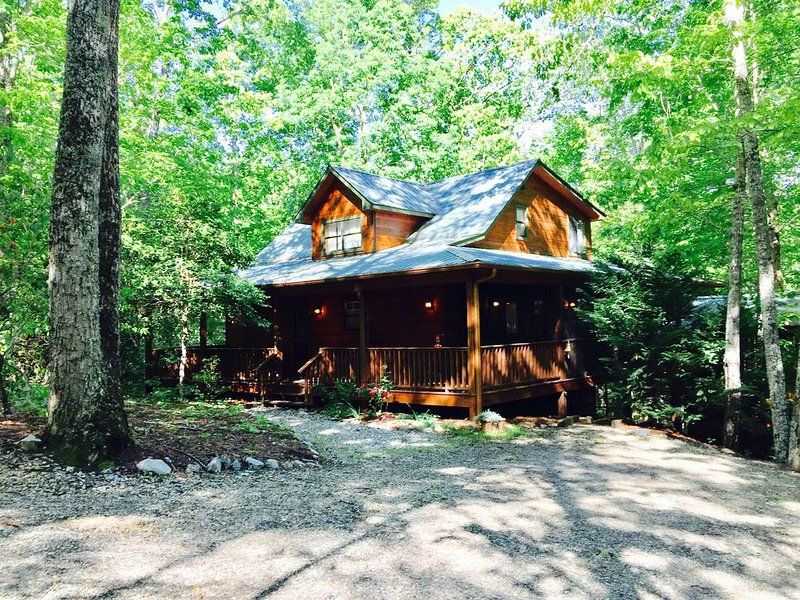 Dancing Bear  Your  Honeymoon Cabin with Hot Tub in the Woods, location de vacances à Blairsville