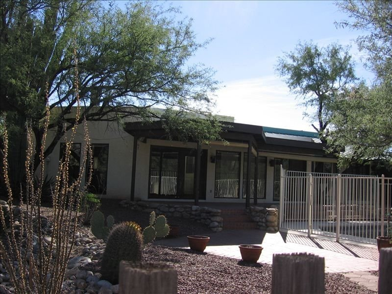 This is the back patio and  pool end on another beautiful sunny Tucson day.