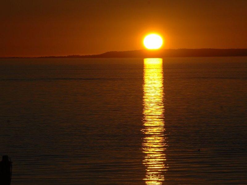 Otro día que termina en la hermosa bahía de abedul