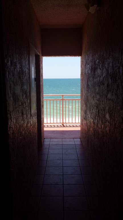 Gulf view getting off the elevator on the 5th floor! Walk closer! It's Amazing!!