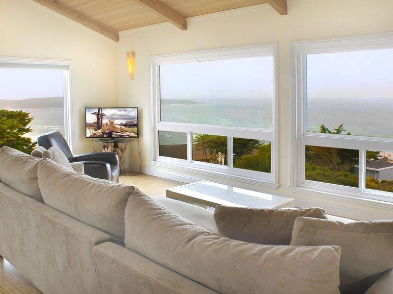 Sea Haven, single level contemporary home overlooking the Pacific Ocean, casa vacanza a Dillon Beach