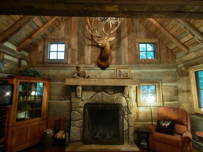 Creekfront Vintage Log Cabin- Dog Lovers Paradise!, holiday rental in Franklin