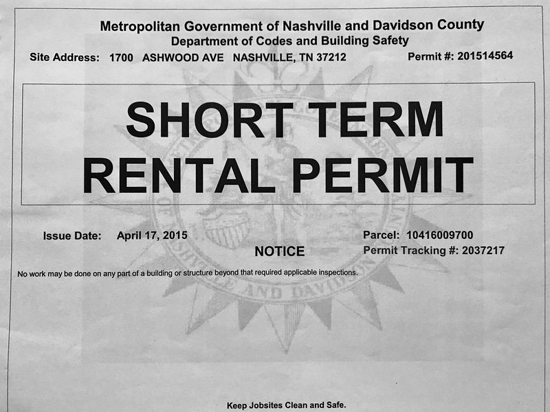 Estamos debidamente autorizados y en buena situación con Metro Nashville Government.