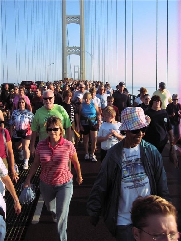 Labor Day Mackinaw bridge walk, a great way to end the summer