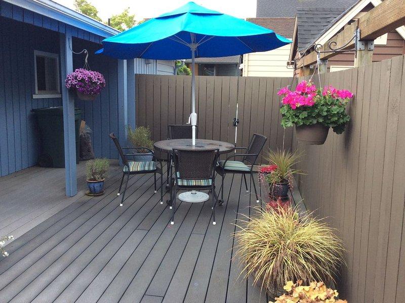 Deck, perfect for enjoying long Seattle summer evenings.
