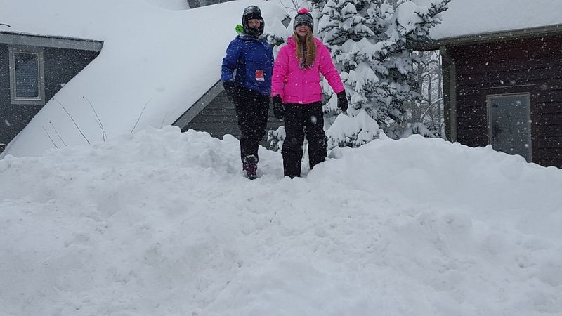 Our kids playing in driveway during a nice snow day!