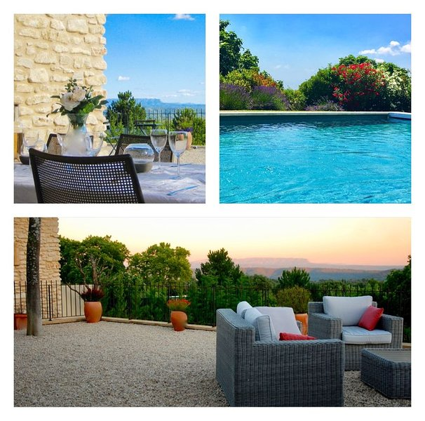 Beautiful Provençal house with views, pool & air conditioning, holiday rental in Lourmarin