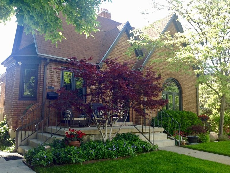 Front of this CHARMING Tudor style home.