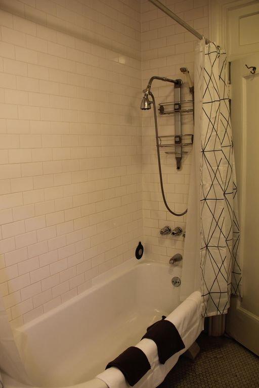 Bathroom ultra-deep bathtub and shower