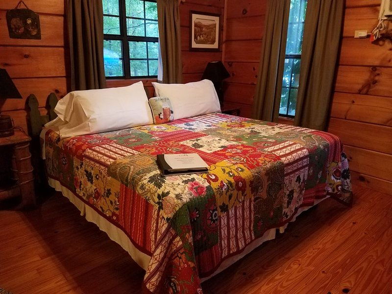 Charming pet-friendly cabin with hot tub for two: Your perfect mountain retreat! – semesterbostad i Lake Lure