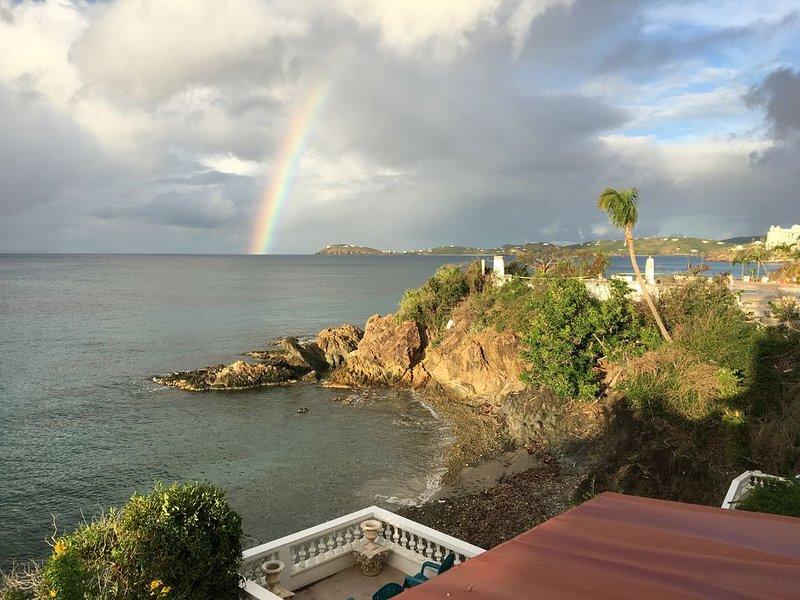 Beautiful rainbow as seen from patio