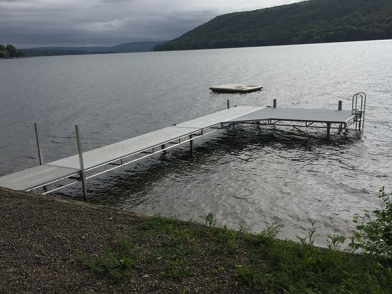 New in 2018 our 40' dock with 8x12 sun deck. A swim float is also for your use.