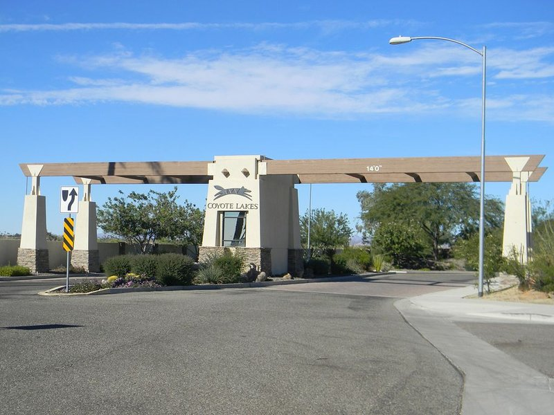 Front Entrance to Coyote Lakes Community