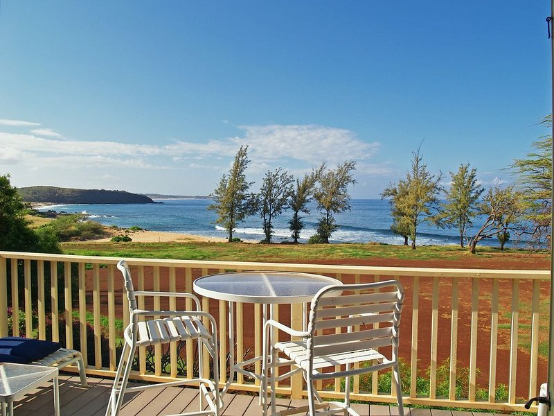 ONLY Direct OCEAN FRONT 2 bedroom…..Private End Unit…Feels Like A House, alquiler de vacaciones en Maunaloa