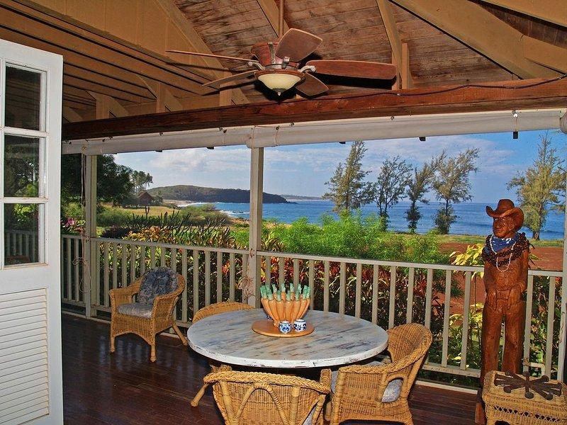 El mejor lugar para cenar en la isla ... y la mesa del atardecer también