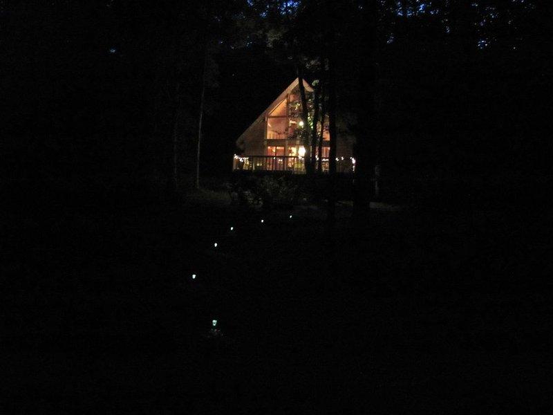En nattvy från sjön.