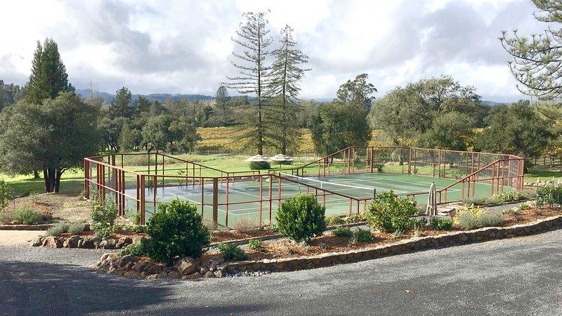 Tennis paradise in sonoma wine country, holiday rental in Sebastopol