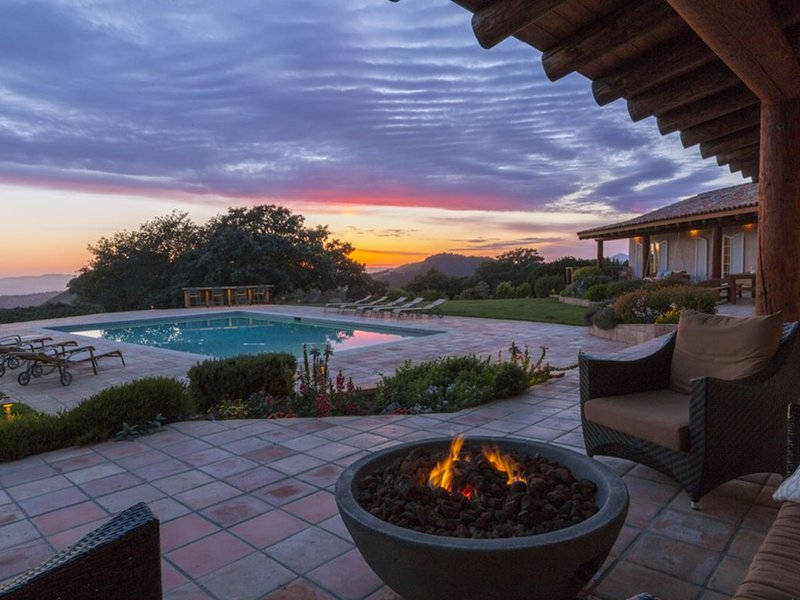 Enjoy a beautiful sunset by the firepit.