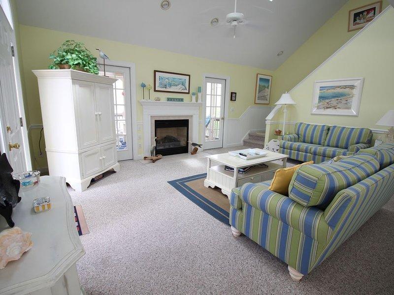 Open floor plan.  Living, dining, den, kitchen on first level.
