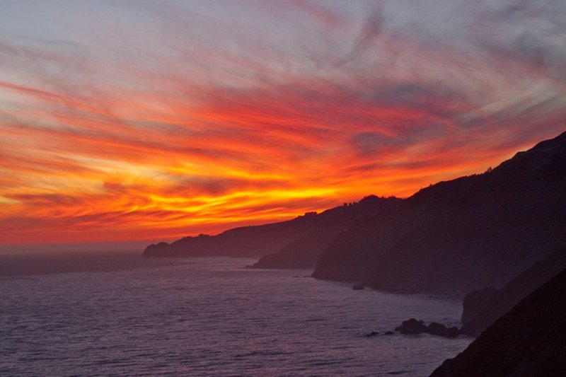 At the end of the day enjoy a beautiful Big Sur sunset like this to the north