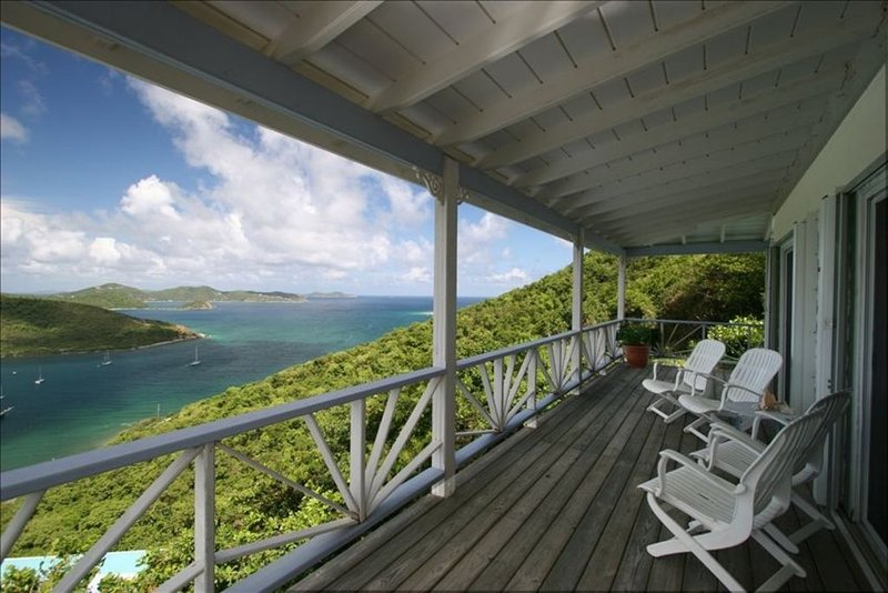 15% OFF MAY-AUG!  LOVELY, AFFORDABLE 2 BR VILLA WITH POOL AND PRICELESS VIEW, vacation rental in St. John