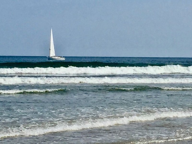 Sailboat sighting from OGT main beach.