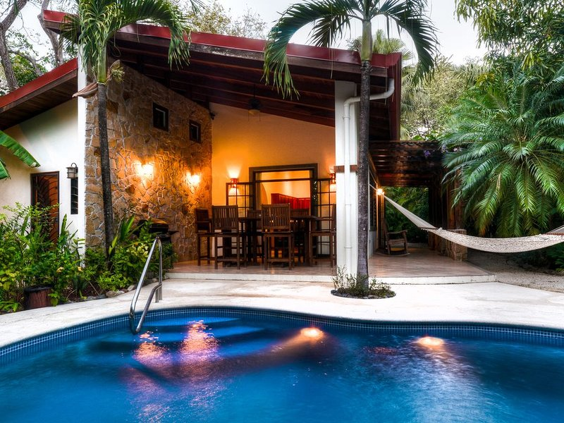 Pool & Outside Dining Area with Hammock
