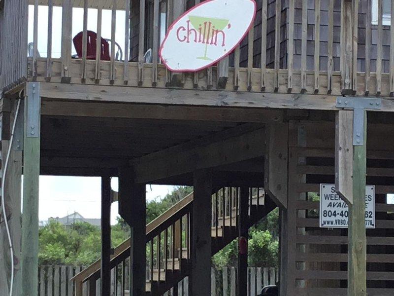 Chillin' -3  BR, Ez Beach Access,Bright&Cheerful,Decking-Oct week's available, location de vacances à Kill Devil Hills