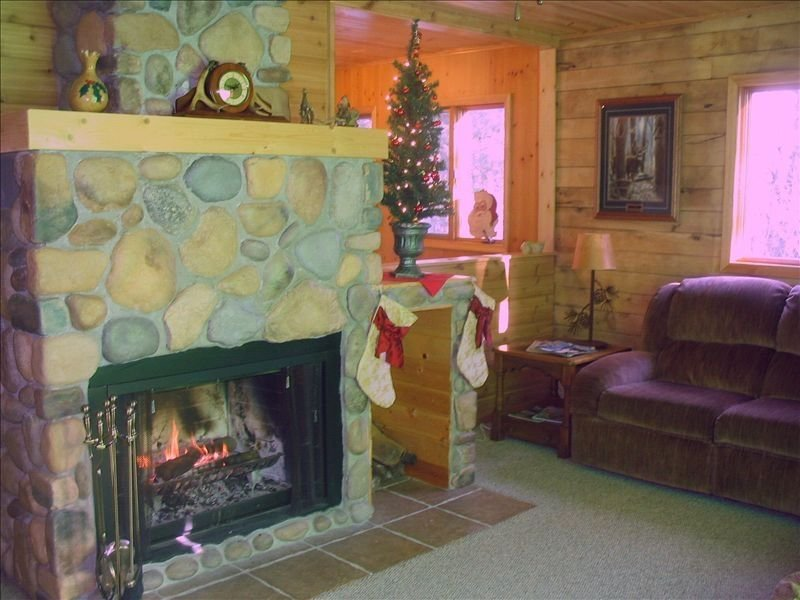 Large Cabin in the North Woods of Wisconsin on Quiet Lake, vacation rental in Shell Lake